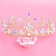 Mujer Diamantes Sintéticos / Aleación / Perla Artificial Celada-Boda / Ocasión especial Tiaras 1 Pieza Claro / Marfil