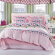 Yuxin®Korean Version of the Korean Velvet Skin-Friendly Family of Four Sanding   Bedding Apply Sheets   Bedding Set