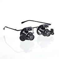 neue Brille Kamera 20x Lupe Lupe Lupenbrille Typ geführte Uhr repeinirment