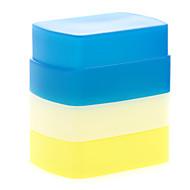 キヤノン580EX II YN-568/560分の565 IIIのための青+黄色+白の新しいシリコン柔軟なフラッシュバウンスディフューザーソフトボックス