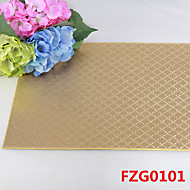 Plaid Leather Without Washing Placemat Dining Table / Table Decoration / Dinner Decor / Home Decoration