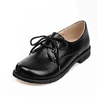Oxfordky - Koženka - Pohodlné / Kulatá špička - Dámská obuv - Černá / Bílá / Burgundská - Outdoor / Běžné - Plochá podrážka