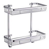 "Bathroom Shelf Aluminum Wall Mounted 370 x 313 x 140mm (14.6 x 12.3 x 5.5"") Aluminum Contemporary"