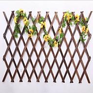forkulning antikorrosiv optrækkelige bambus hegn vægdekoration pergola 98cm høj