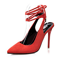 Women's Shoes Suede Stiletto Heel Heels / Gladiator / Pointed Toe / Closed Toe Sandals Dress More Colors Available