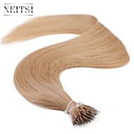 "Neitsi® 20"" 1g/s Nano Ring Loop Straight Hair 100% Human Hair Extensions 14# Include Hair Tools"