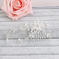 Mulheres Strass Capacete-Casamento / Ocasião Especial / Casual / Escritório e Carreira / Ao ar Livre Pentes de Cabelo 1 Peça Claro Redonde