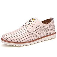 Men's Shoes Casual/Party/Office Fashion Breathable PU Leather Shoes Black/Bule/White/Brown