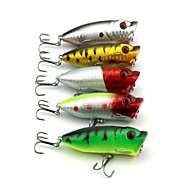 5 PCS Hard Bait Popper 65MM 13G Fishing Lure Random Colors
