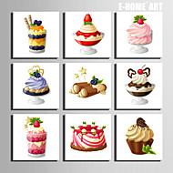 Alimenti Print Canvas Più di Cinque Pannelli Pronto da appendere , Quadrato