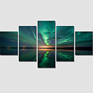 Canvas Print Arts Painting Unframed 5 Piece Abstract Lake Sky For Living Room Wall Picture Home Decoration