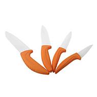 3 inch/ 4 inch / 5 inch/ 6 inch Kitchen Ceramic Knife Set - Orange (4 PCS)