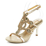 Women's Shoes Leather Stiletto Heel Heels Sandals Party & Evening / Dress / Casual Rose Gold