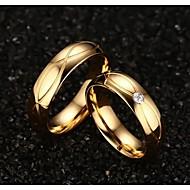 Gyűrűk Esküvő / Parti / Napi / Hétköznapi / Sport Ékszerek Titanium Acél / Arannyal bevont Pár Vallomás gyűrűk 1 pár,5 / 6 / 7 / 8 / 9 /