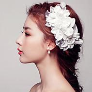 Mulheres / Menina das Flores Renda / Pérola Capacete-Casamento / Ocasião Especial Flores 1 Peça Branco Redonde