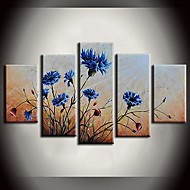 Hand-Painted Abstract / Landscape / Animal / Abstract LandscapeModern Five Panels Canvas Oil Painting For Home Decoration