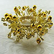 12 אקרילי עגול טבעת מפית שולחן Dceoration