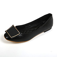Women's Shoes Leatherette Flat Heel Comfort / Round Toe Flats Casual Black