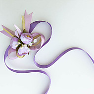 Simple  Small Camellia Silk  Wedding Wrist Corsages  (More Colors)