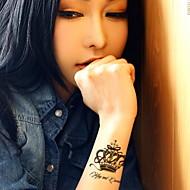koruna stereoskopické sexy vodotěsný květ rameno dočasná tetování samolepky netoxická třpytky