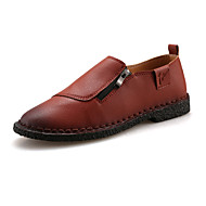 Men's Shoes Casual Faux Fur Loafers Black / Brown / Navy