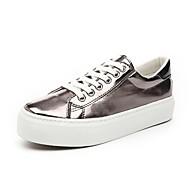 נעלי נשים - סניקרס אופנתיים - נצנצים - נוחות / מעוגל - אדום / כסוף / חאקי - שטח / קז'ואל - עקב שטוח