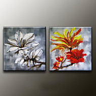 handgemalten Blumen / Pflanzen modernes Ölgemälde, Leinwand zwei Platten
