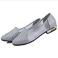 Plochá podrážka-Koženka-Pohodlné-Dámská obuv-Růžová / Stříbrná / Zlatá-Běžné-Plochá podrážka