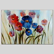 Flower Style Canvas Material Oil Paintings with Stretched Frame Ready To Hang Size 60*90CM