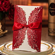כרטיסי הזמנה / כרטיסים למסיבת אירוסין הזמנות לחתונה שער כפול מותאם אישית 50 יחידה / סט