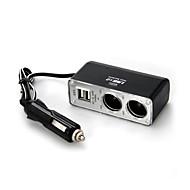 Cigarette Lighter Socket, Dc 12V 24V Dual Usb Charger Adapter With 2