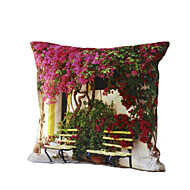 3D Design Print Chair Flower Decorative Throw Pillow Case Cushion Cover for Sofa Home Decor Polyester Soft Material