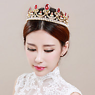 Fashion Wedding Party Women Bride Red Opal Tiaras