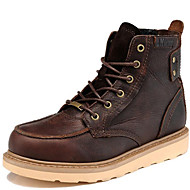 Men's Shoes Outdoor / Office & Career /Work & Duty / Party & Evening / Dress / Casual Nappa Leather Boots Black /Taupe