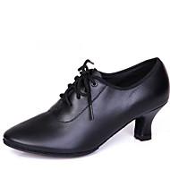 Na míru-Dámské-Taneční boty-Latina / Moderní-Kůže-Kačenka-Černá