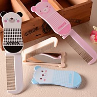 Folding Combs Pocket Hair Brushes Portable Foldable Comb with Mirror(Ramdon Color)