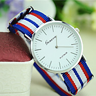 Unisex Fashion Personality New Canvas Geneva Simple Watch without Second Hand Watches Cool Watches Unique Watches