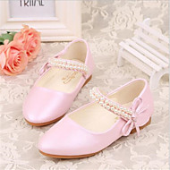 Girls' Shoes Outdoor / Casual Heels Faux Leather Heels Pink / White