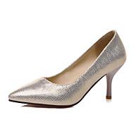 נשים-עקבים-נצנצים-נעלי מועדון-זהב כסף כחול-חתונה משרד ועבודה שמלה-עקב סטילטו