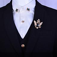 Муж. Женский Драгоценный камень Платиновое покрытие Позолота Сплав Мода Серебряный Золотой Бижутерия Свадьба Для вечеринок Повседневные