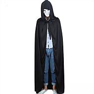 Black Halloween Hooded Cape MEDIEVAL Wedding Cloak Coat Shawl