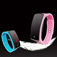 Herre Dame Unisex Sportsklokke LED Touch-skjerm Digital Silikon Band Mangefarget
