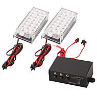 set auto 22 led strobe noodverlichting 3 knipperende modi