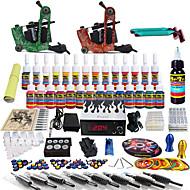 solong tatovering komplett tatovering kit 2 pro maskiner 54 blekk strømforsyning fot pedal nåler grep tips tk248