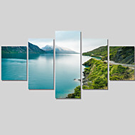Modern Style Abstract Wall Painting Canvas Art City Landscape Pictures Home Decor Paintings 3 Panel Wall Art No Framed