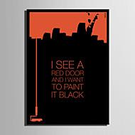 Слова Холст в раме / Набор в раме Wall Art,ПВХ Черный Без коврика с рамкой Wall Art
