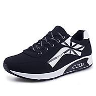 Men's Walking Shoes Leather / Canvas Black / Blue