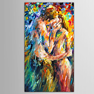 Hand-Painted People / Abstract PortraitModern / European Style One Panel Canvas Oil Painting For Home Decoration