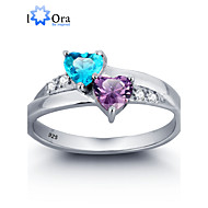 Gyűrűk Heart Shape Esküvő / Parti / Napi / Hétköznapi Ékszerek Ezüst / Cirkonium Női Karikagyűrűk 1db,6 / 7 / 8 Ezüst