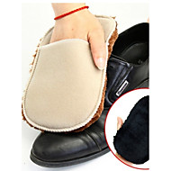 1Pcs  Soft Wool Plush Suede Shoes Cleaner Shoe Care Brush Shoe Gloves Wipe Shoes Mitt(Ramdon Color)